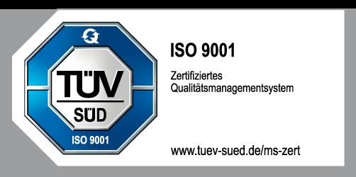 ISO 9001 Zertifizierung TÜV Süd